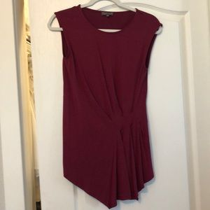Vince Camuto Burgundy cotton top